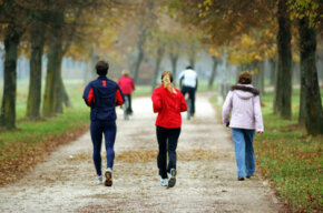 Training for your marathon with running partners in vibrant, outdoor spaces can keep your morale high and beat boredom.