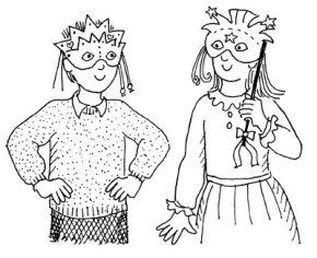 Make your own Mardi Gras mask.