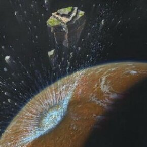 Bombardment of Mars in the early solar system