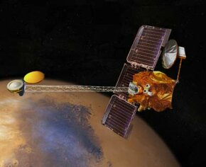 The Mars Odyssey spacecraft journeyed for more than six months before placing itself in orbit around the red planet in October, 2001.