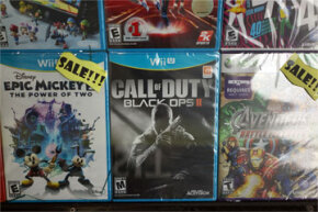"""Call of Duty Black Ops 2"" sits in the window of a Brooklyn store on Jan. 11, 2013, in New York City. Following the Newtown shootings, numerous politicians and activists focused again on violence in video games and films."