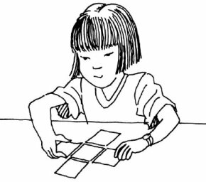 Make puzzles for five squares, and see if your kids can figure out all 12 shapes you can make.