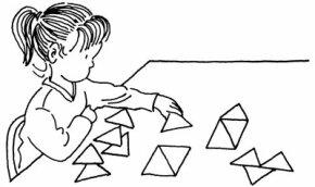 Celebrate a triangle treat when your kids arrange