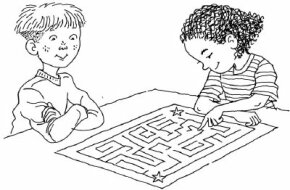 Your kids can design their own giant maze, and challenge their friends to complete it the fastest.
