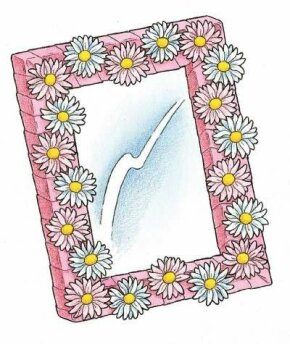 This lovely flowered frame needs one more thing -- a picture of YOU.