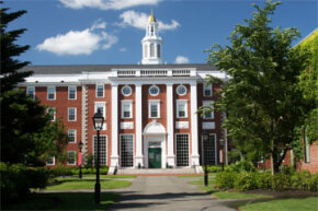A business school like Harvard's, pictured here, can easily set a student back more than $50,000 per year in tuition, fees and living expenses.
