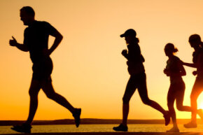A running club can provide a comfortable environment to get to know new people and get some exercise.