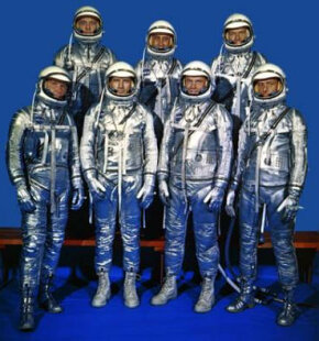 America's Mercury astronauts Top row (L-R): Shepard, Grissom, Cooper Bottom row (L-R): Schirra, Slayton, Glenn, Carpenter