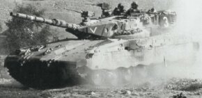 The Israeli Merkava was designed with a low hull and turret silhouette.