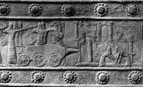Civilization also spawned war, as is depicted in this 7th c. B.C. carving of an Assyrian invasion.