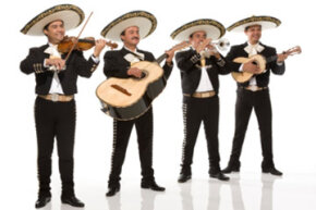 Traditional Mariachi musicians from Mexico.