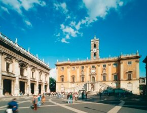 Michelangelo was commissioned to revive the Capitoline Hill in Rome. He created the Piazza del Campidoglio with a complete redesign of the plaza and the buildings surrounding it.