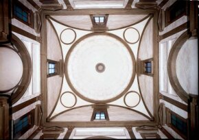 The Medici Chapel dome (1519-34) by                              Michelangelo can be seen in San Lorenzo, Florence.