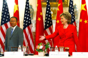 Theorists purport that increased globalization through free market systems make friends out of potential enemies, for example, the U.S. and China.