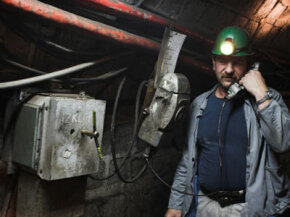 Some mines use wired systems for communications, but what happens if you can't get to an emergency phone station?