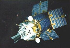 Artist's concept of SBIRS satellite