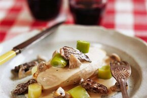 Despite all the medical warnings, morel mushrooms and wine are often served together.