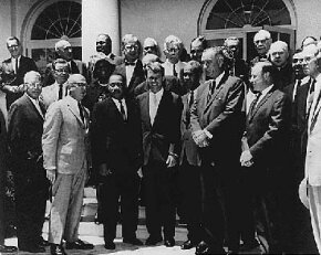 Photograph of White House meeting with civil rights leaders, June 22, 1963