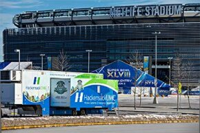 The mobile emergency department of Hackensack University Medical Center (UMC) stands ready to offer assistance during Super Bowl 2014.