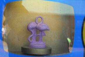 The flamingo figurine is one of many animal molds that were created for Mold-A-Ramas.