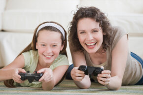 While there aren't games designed just for moms, some are designed with women in mind  --  or at least not ignored.