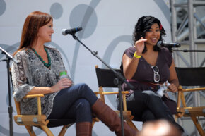 Food bloggers Ree Drummond (left) and Aarti Sequeira participate in a panel discussion at a food festival in 2010. Both women have since landed shows on the Food Network and Drummond has published three cookbooks, a memoir and two children's books.