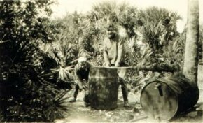 Moonshine operation at Pinckney Island, South Carolina, 1931.