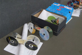 Assorted mousetrap cars used for the Southeastern Consortium for Minorities in Engineering (SECME) Olympiad
