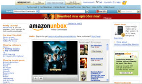 Amazon Unbox is a service that allows people to buy and download movies. See more popular Web site pictures.