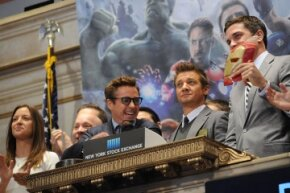 """Robert Downey Jr. was probably smiling because he knew """"Avengers: Age of Ultron,"""" scheduled for a May 1 U.S. release, was going to be a hit. The first installment opened on May 4, 2012, and once held the record for the biggest opening weekend in the U.S."""