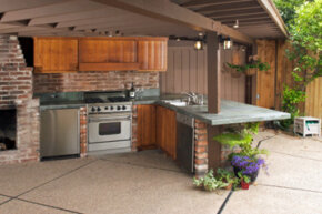 You probably don't need a second kitchen outdoors, but it sure would be nice on summer nights!