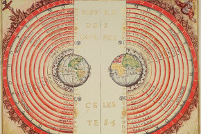 Portuguese cosmographer and cartographer Bartolomeu Velho created this view of the universe with the earth as its center in 1568. Now we know our solar system is just an insignificant part of the Milky Way.