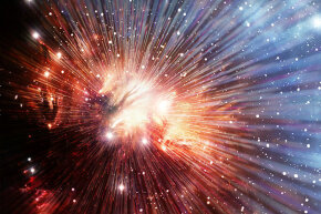 An artist's conception of the Big Bang.