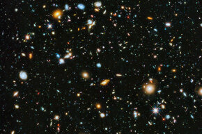 This parallel field observation from the NASA/ESA Hubble space telescope reveals thousands of colorful galaxies swimming in the inky blackness of space. Given the universe's scale, who's to say there isn't a parallel reality?