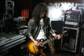 With a recording studio in his home, rock star Slash markets himself by networking with fellow recording artists.