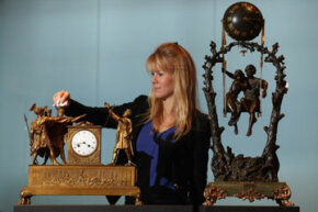 The mystery clock on the right is an example of a swinger.