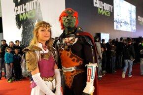 """Legend of Zelda"" cosplayers at the Paris Games Week show in 2011."