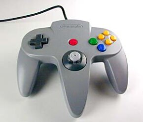 The trident shape of the Nintendo 64 controller is unique among video game systems.