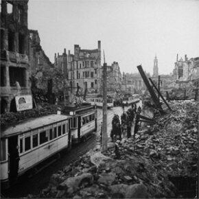 Allied napalm bombings decimated the city of Dresden, Germany.