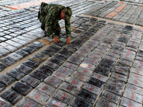 Colombian police capture 3.5 tons of cocaine in December 2008, about one-half of a percent of the county's annual production.