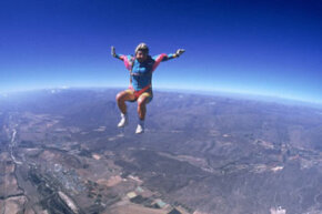 Skydiving Image Gallery You might be up for skydiving, but would you dare dive from space? See more skydiving pictures.