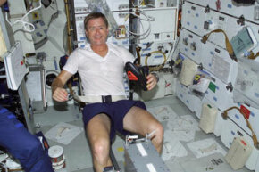 Exercise isn't just for Earth-bound athletes -- astronauts have to keep in shape while they're in space. See more astronaut pictures.