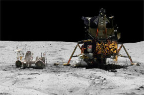 Look at that lovely panoramic shot of Apollo 16's landing site on April 23, 1972. What if a microbe had hitched a ride from these lunar highlands to Earth aboard the shuttle? See pictures of space exploration.