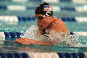 Sports Image Gallery U.S. swimmer Anita Nall swims to a bronze medal at the 1995 Pan American Games in Mar del Plata, Argentina. See more sports pictures.