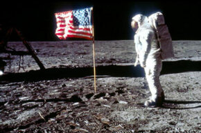 Astronaut Image Gallery The broadcast of the first moon landing in 1969 is an example of NASA's impact on the field of television. See more astronaut pictures.