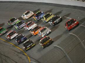 Daytona International Speedway has multiple racing grooves -- three, in fact.