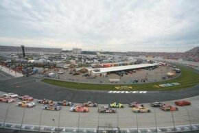 Dover International Speedway is paved with concrete, a surface that is tough on cars.