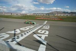 The Las Vegas Motor Speedway plays host to NASCAR, as well as drag races and police driver training.