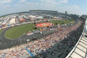 Lowe's Motor Speedway was one of the first long, paved, steeply banked tracks on the NASCAR circuit.
