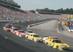 New Hampshire International Speedway hosts two NASCAR races each year on its oval track.